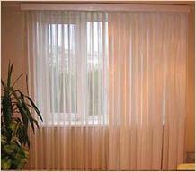 Тюлевые вертикальные жалюзи и шторы