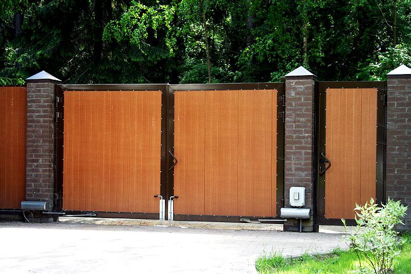 Ворота деревянные распашные прайс
