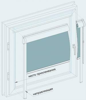 Кассетные шторы на пластиковые окна своими руками